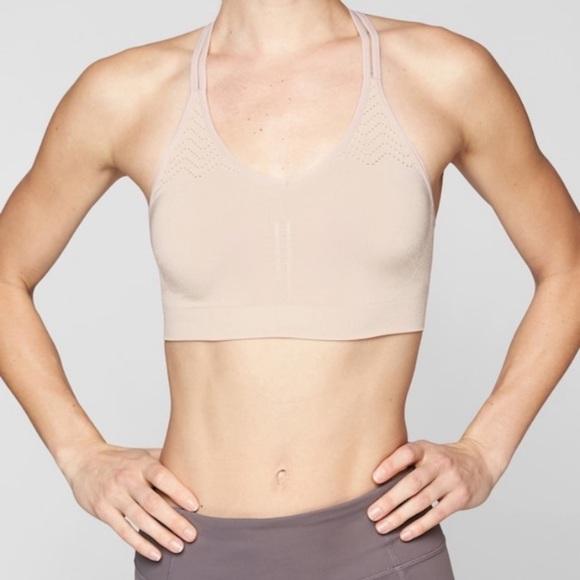 Athleta Other - Athleta Mesh Around 2.0 sports bra t-strap nude